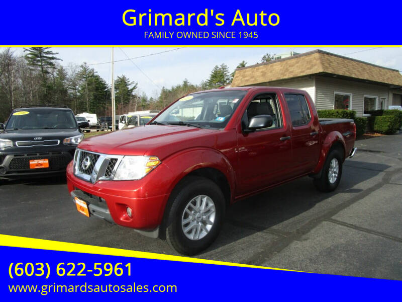 2016 Nissan Frontier for sale at Grimard's Auto in Hooksett, NH