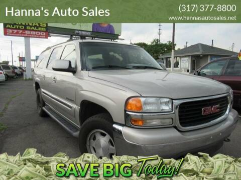 2005 GMC Yukon XL for sale at Hanna's Auto Sales in Indianapolis IN