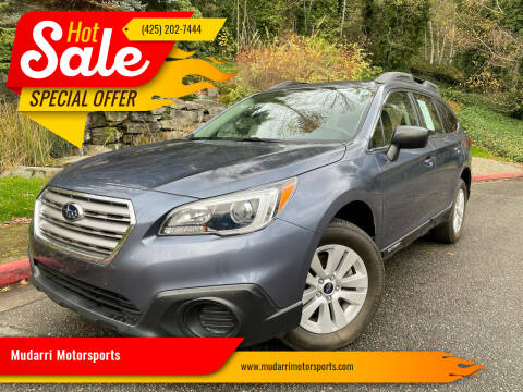 2017 Subaru Outback for sale at Mudarri Motorsports in Kirkland WA