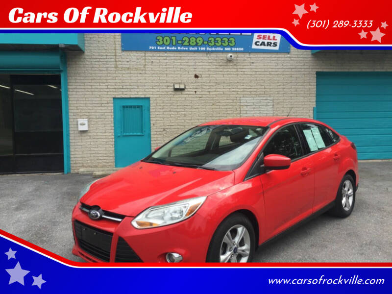 2012 Ford Focus for sale at Cars Of Rockville in Rockville MD