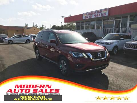 2018 Nissan Pathfinder for sale at Modern Auto Sales in Hollywood FL