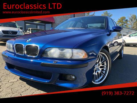 2000 BMW M5 for sale at Euroclassics LTD in Durham NC