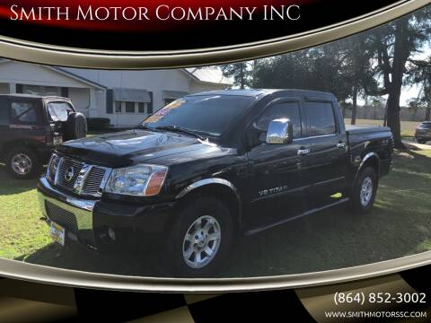 2005 Nissan Titan for sale at Smith Motor Company INC in Mc Cormick SC