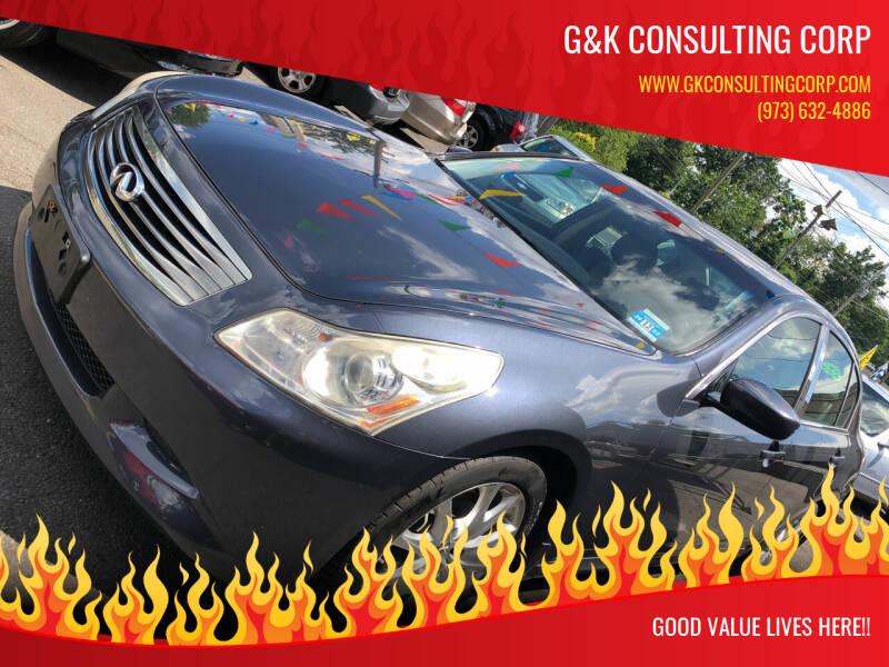 2009 Infiniti G37 Sedan for sale at G&K Consulting Corp in Fair Lawn NJ