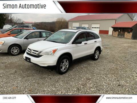 2010 Honda CR-V for sale at Simon Automotive in East Palestine OH
