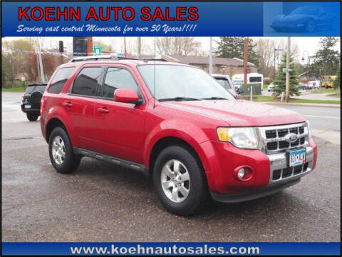 2010 Ford Escape for sale at Koehn Auto Sales in Lindstrom MN