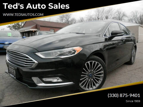 2017 Ford Fusion for sale at Ted's Auto Sales in Louisville OH