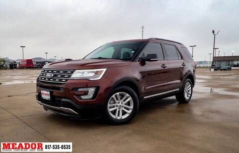 2016 Ford Explorer for sale at Meador Dodge Chrysler Jeep RAM in Fort Worth TX