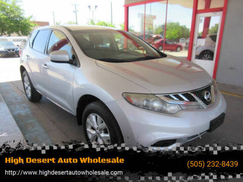 2013 Nissan Murano for sale at High Desert Auto Wholesale in Albuquerque NM