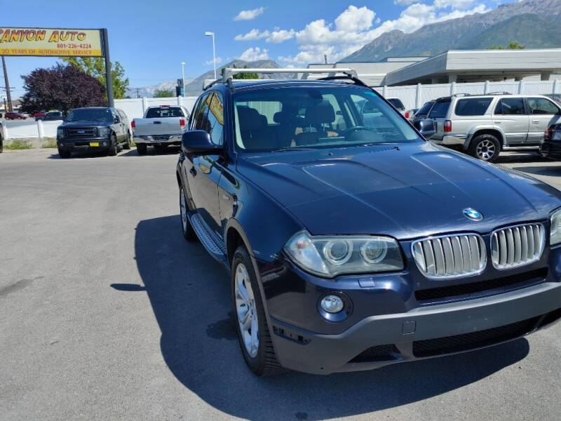 2010 BMW X3 for sale at Canyon Auto Sales in Orem UT