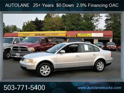 1999 Volkswagen Passat for sale at Auto Lane in Portland OR