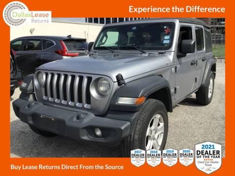 2018 Jeep Wrangler Unlimited for sale at Dallas Auto Finance in Dallas TX