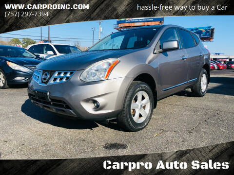2013 Nissan Rogue for sale at Carpro Auto Sales in Chesapeake VA