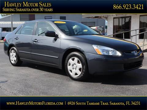 2005 Honda Accord for sale at Hawley Motor Sales in Sarasota FL
