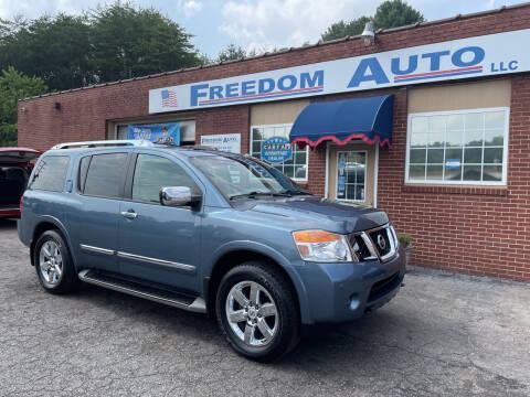 2012 Nissan Armada for sale at FREEDOM AUTO LLC in Wilkesboro NC