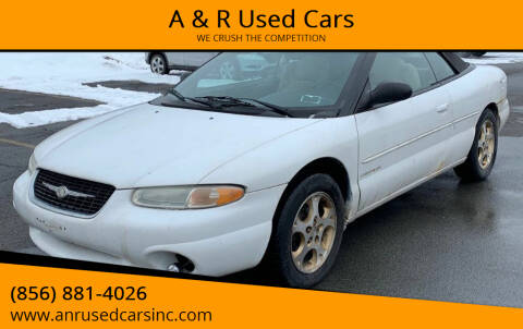 1999 Chrysler Sebring for sale at A & R Used Cars in Clayton NJ