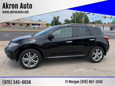2011 Nissan Murano for sale at Akron Auto - Fort Morgan in Fort Morgan CO