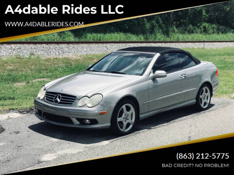 2005 Mercedes-Benz CLK for sale at A4dable Rides LLC in Haines City FL