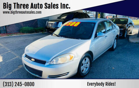 2006 Chevrolet Impala for sale at Big Three Auto Sales Inc. in Detroit MI