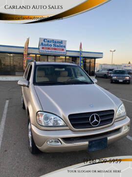 2003 Mercedes-Benz M-Class for sale at Carland Auto Sales in Sacramento CA