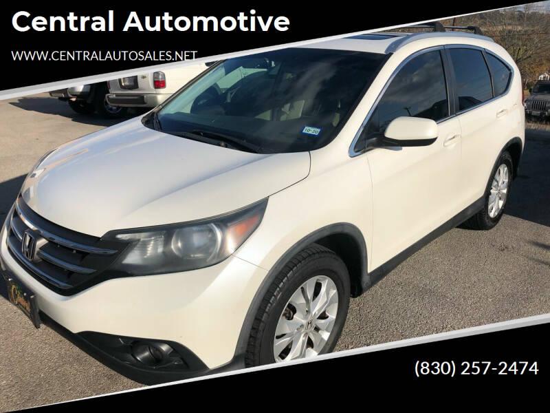 2014 Honda CR-V for sale at Central Automotive in Kerrville TX