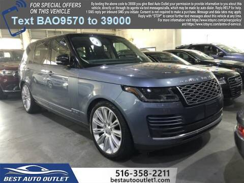 2019 Land Rover Range Rover for sale at Best Auto Outlet in Floral Park NY