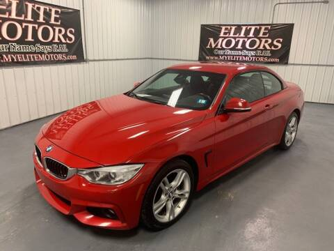 2015 BMW 4 Series for sale at Elite Motors in Uniontown PA