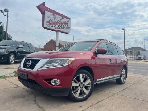 2013 Nissan Pathfinder for sale at Southwest Car Sales in Oklahoma City OK