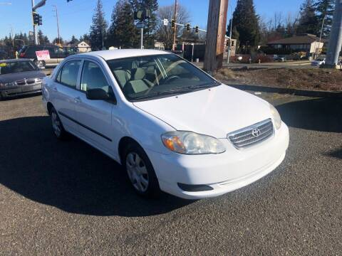 2005 Toyota Corolla for sale at KARMA AUTO SALES in Federal Way WA
