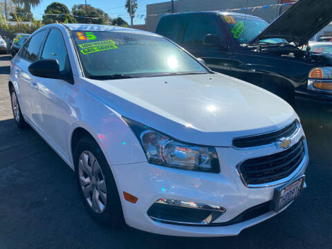 2015 Chevrolet Cruze for sale at North County Auto in Oceanside CA