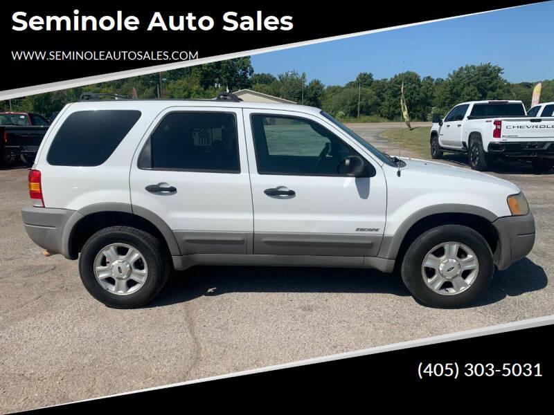2002 Ford Escape for sale at Seminole Auto Sales in Seminole OK