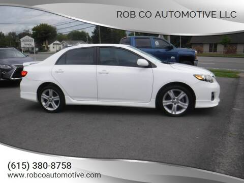 2013 Toyota Corolla for sale at Rob Co Automotive LLC in Springfield TN