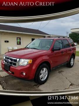 2010 Ford Escape for sale at Adan Auto Credit in Effingham IL