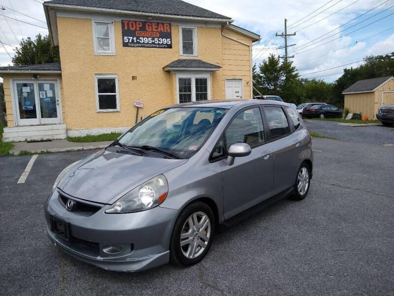 2008 Honda Fit for sale at Top Gear Motors in Winchester VA