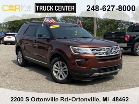 2018 Ford Explorer for sale at Carite Truck Center in Ortonville MI