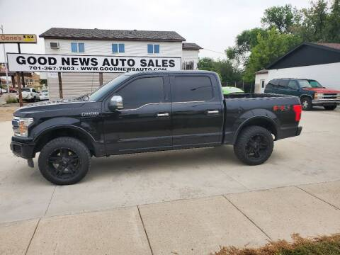 2018 Ford F-150 for sale at GOOD NEWS AUTO SALES in Fargo ND