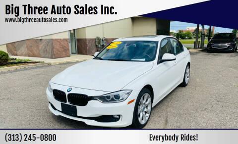 2015 BMW 3 Series for sale at Big Three Auto Sales Inc. in Detroit MI