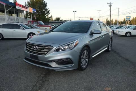 2017 Hyundai Sonata for sale at Leavitt Auto Sales and Used Car City in Everett WA