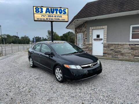 2008 Honda Civic for sale at 83 Autos in York PA