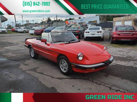 1985 Alfa Romeo Spider for sale at Green Ride Inc in Nashville TN
