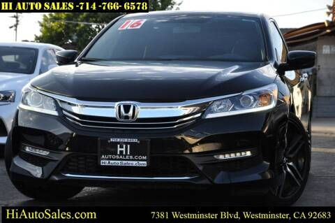 2016 Honda Accord for sale at Hi Auto Sales in Westminster CA