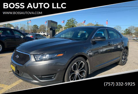 2016 Ford Taurus for sale at BOSS AUTO LLC in Norfolk VA
