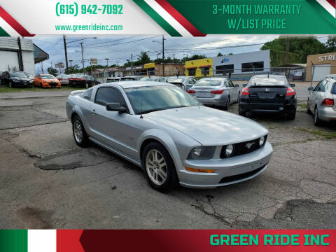2005 Ford Mustang for sale at Green Ride Inc in Nashville TN