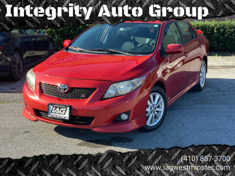 2010 Toyota Corolla for sale at Integrity Auto Group in Westminister MD