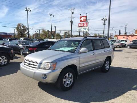 2002 Toyota Highlander for sale at 4th Street Auto in Louisville KY
