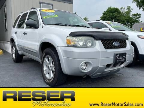 2007 Ford Escape for sale at Reser Motorsales in Urbana OH