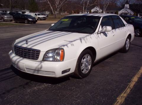 2005 Cadillac DeVille for sale at LAKESIDE MOTORS LLC in Houghton Lake MI