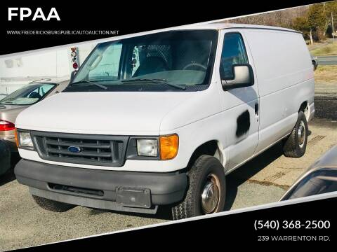 2003 Ford E-Series Cargo for sale at FPAA in Fredericksburg VA
