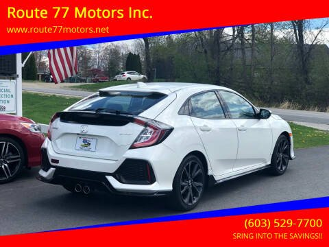 2017 Honda Civic for sale at Route 77 Motors Inc. in Weare NH