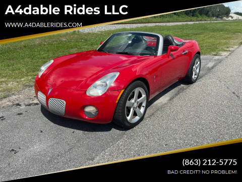 2006 Pontiac Solstice for sale at A4dable Rides LLC in Haines City FL